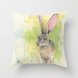 hare Throw Pillow