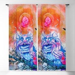 """G0d king owl"" animal art , bird art . Surrealism Blackout Curtain"