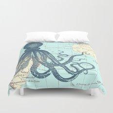 Map Octopus Duvet Cover