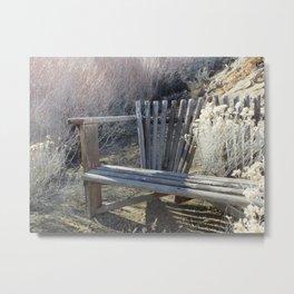 Silver Bench Metal Print