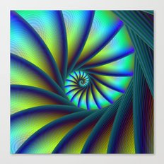 Staircase Spiral in Blue and Turquoise Canvas Print