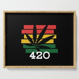 420 Stoner Chiller Stoner Weed Cannabis Serving Tray