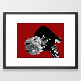 Alpaca Framed Art Print