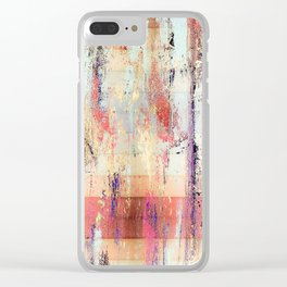 Earth Wood and Stone Modern Art Design Clear iPhone Case