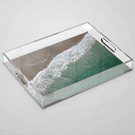 Wrightsville Beach Waves Acrylic Tray