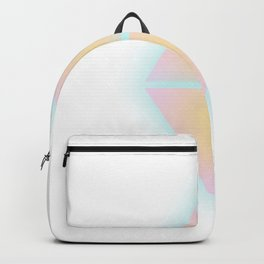 Blurred Triangles   Pink & Yellow Backpack