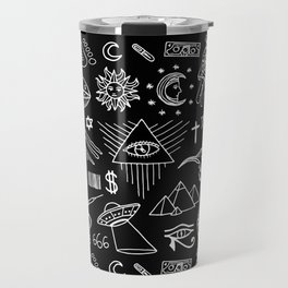 Conspiracy pattern Travel Mug