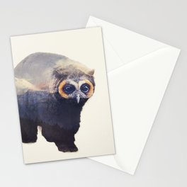 Owlbear in Mountains Stationery Cards