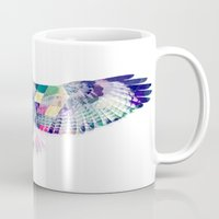 hawk Mugs featuring Hawk by NKlein Design