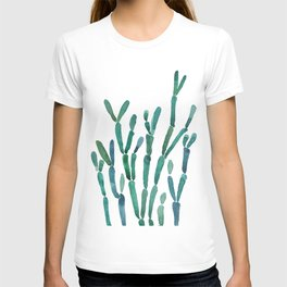 Succulent rhipsalis watercolor T-shirt