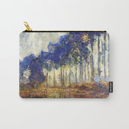 Poplars on the Bank of the Epte River by Claude Monet Carry-All Pouch
