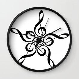 Treble Clef Pentagon Wall Clock