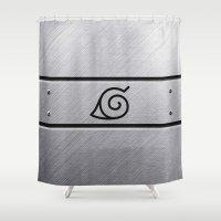naruto Shower Curtains featuring Naruto Headband by Kesen