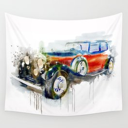 Vintage Automobile Wall Tapestry