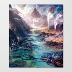 Polluted Delta Canvas Print