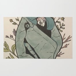 Turtle and Floral Rug