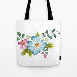 Bouquet Viola - Violet, Green AND Blue Flower Pimpernel Tote Bag