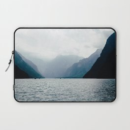 Misty Lake in the Alps Laptop Sleeve