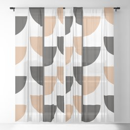 Slices - Caramel and Black Coffee Sheer Curtain