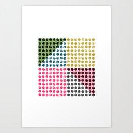 Radio Dots 2 Art Print