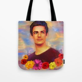 Barry with Flowers Tote Bag