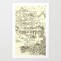 An almost accurate quote Art Print
