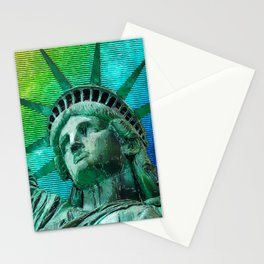 Pop Art Statue of Liberty Stationery Cards