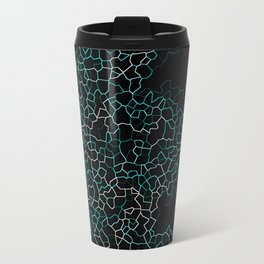 Aqua Crackle Travel Mug