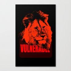 Vulnerable Lion Canvas Print