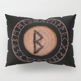 Berkano Elder Futhark Rune secrecy, silence, safety, mature wisdom, dependence, female fertility Pillow Sham