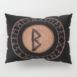Berkano Elder Futhark Rune secrecy, silence, safety, mature wisdom, dependence, female fertility Pillow Sham