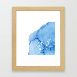 Let's Go Dodgers Framed Art Print