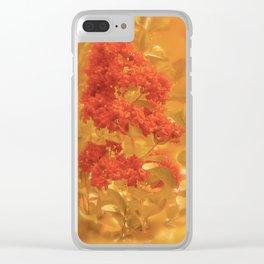 Crimson & Gold Clear iPhone Case