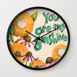 You are My Sunshine- Illustration Wall Clock