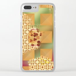 Grid & pattern Clear iPhone Case