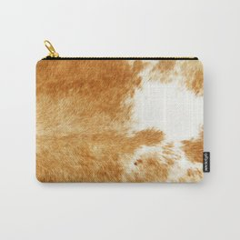 Golden Brown Cow Hide Carry-All Pouch