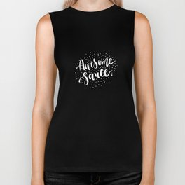 Awesome Sauce on Black Biker Tank