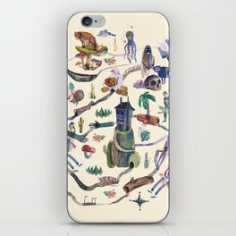 the big map iPhone Skin