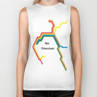 san francisco Biker Tanks featuring San Francisco by Abstract Graph Designs
