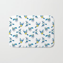 Flying Blue Tit / Bird Pattern Bath Mat