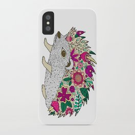 Woodland Hedgehog Illustration iPhone Case