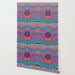 Bead Curtain Psychedelic Wallpaper