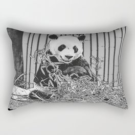 Panda Bear Cutie Rectangular Pillow