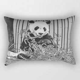Panda Bear Cutie Rectangular Pillow