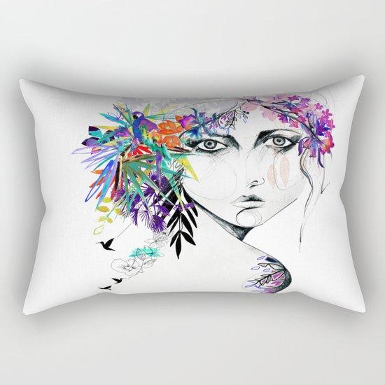 Exotic Girl Rectangular Pillow