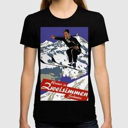 Winter in Zweisimmen Schweiz T-shirt