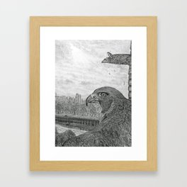 The Urban Peregrine Framed Art Print