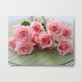 TAKE TIME TO SMELL THE ROSES Metal Print