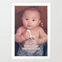 tim shumate Art Prints featuring Tim by Ben Nguyen