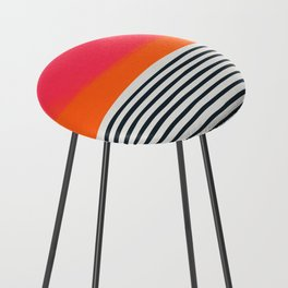 Sunset Ripples Counter Stool
